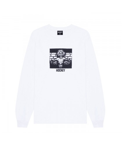 HOCKEY 'CRIPPLING' LONGSLEEVE WHITE