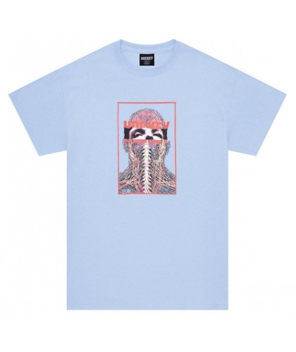 HOCKEY 'NERVES' TEE LIGHT BLUE
