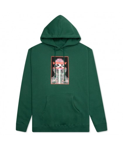 HOCKEY 'NERVES' HOODIE DARK GREEN