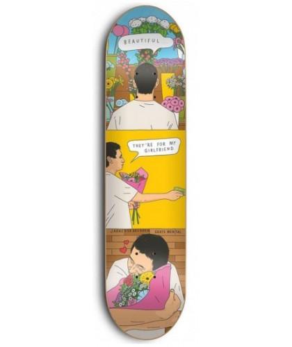 """SKATE MENTAL JARNE VERBRUGGEN 'FLOWERS' 8.25"""""""