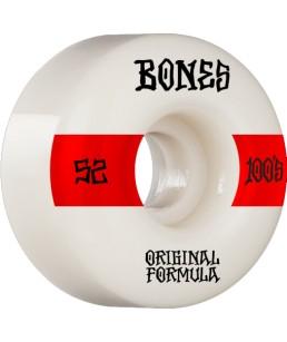 BONES WHEELS 'OG FORMULA' SKATEBOARD WHEELS WHITE/RED 52MM