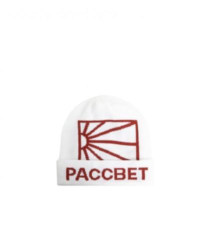 PACCBET MENS ACRYLIC LOGO BEANIE KNIT